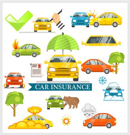 robo de autos: Seguro de coche ilustración vectorial