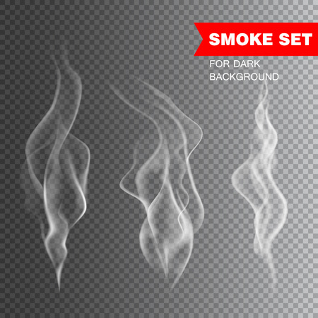flame background: Isolated realistic cigarette smoke vector illustration Illustration