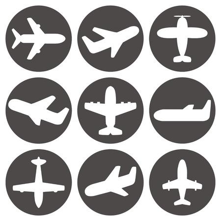 aeroplano: Aereo icone vettoriali