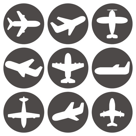 airplane wing: Airplane icons vector