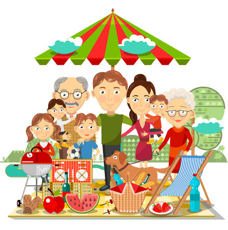 kids fun: Picnic family