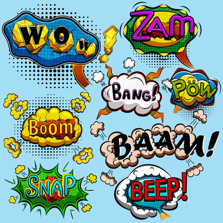 snaps: Set of comic speech bubbles. Vector illustration