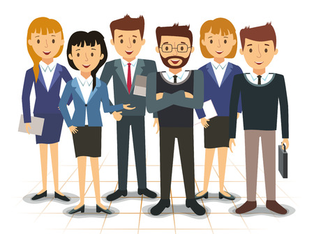 Business team of employees vector illustration 일러스트