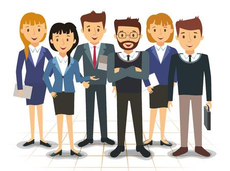 Business team of employees vector illustration Vettoriali