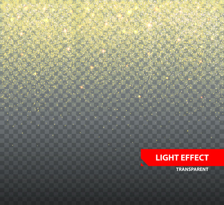 グリーティング カードのための透明な背景のグリッター。ゆっくりと落ちるキラキラ ベクトル図  イラスト・ベクター素材