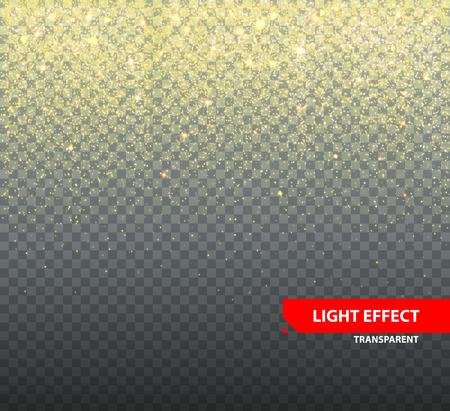 Sprankelende glitter op transparante achtergrond voor wenskaarten. Langzaam vallen glitter vector illustratie