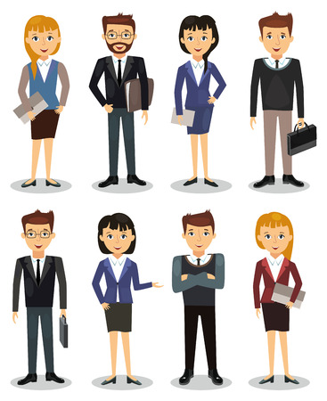 coworker: Business people, group of office workers vector