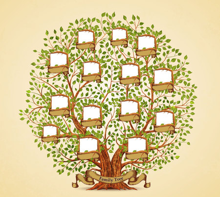 Family Tree template vintage vector illustration Ilustracja