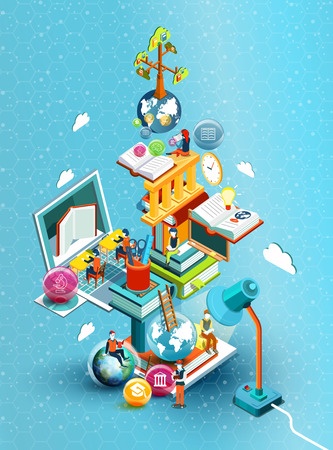 mobile marketing: Online library Illustration