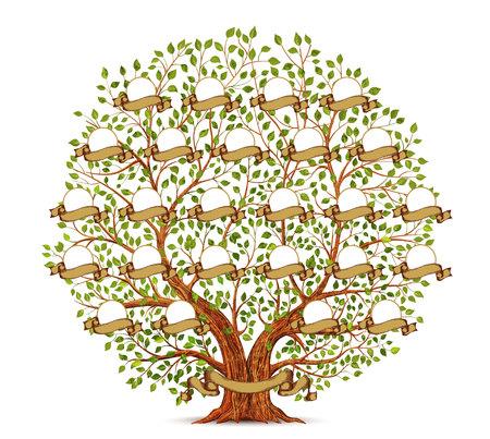 Stammbaum-Schablonenweinlese Vektorgrafik