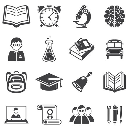 Set of education icons vector illustration