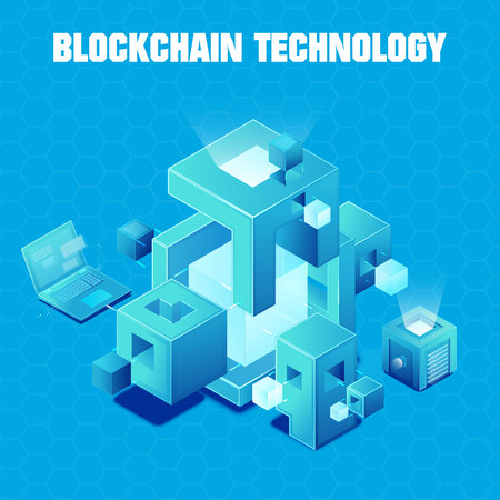 Blockchain technology vector illustration 向量圖像