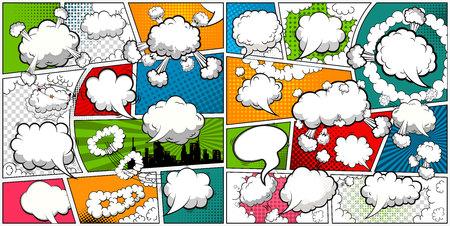 Comic book page template. Vector illustration Banco de Imagens - 109552343