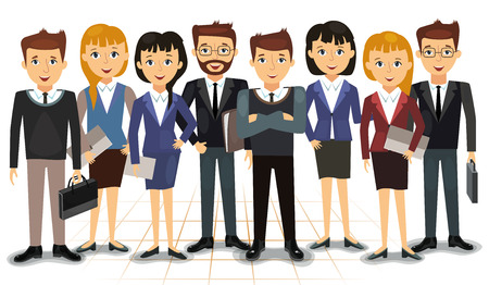 Business team of employees vector illustration Ilustração