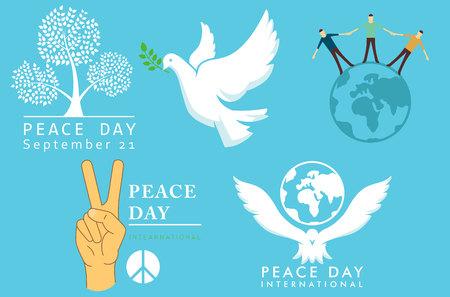 International Day of Peace symbols vector illustration Banco de Imagens - 112601434