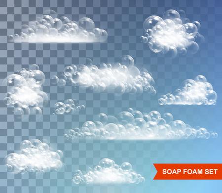 Transparent background with bubbles Illustration