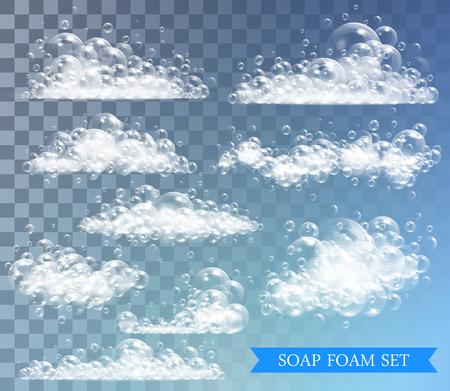 Transparent background with bubbles vector illustration on transparent background