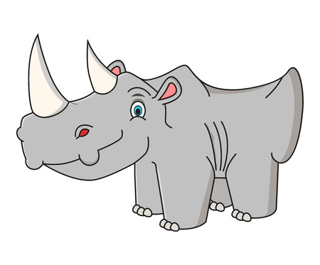 ?artoon rhino vector illustration