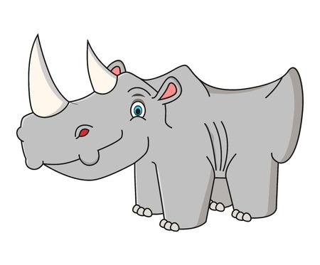 ?artoon rhino vector illustration