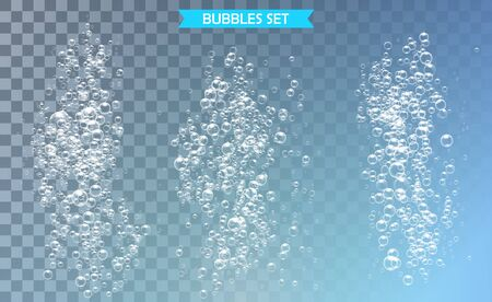 Bubbles under water vector illustration on transparent background Banco de Imagens - 127982860