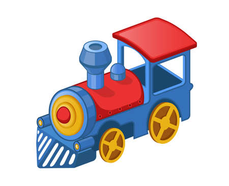 Vector illustration of cartoon toy train Vectores
