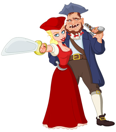 robbery: Pirate couple