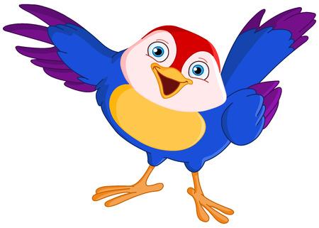 Cute ave señalador  Vectores