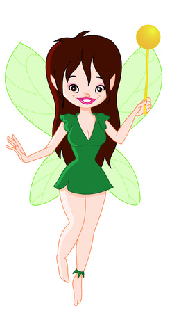 Cute forest fairy Vector