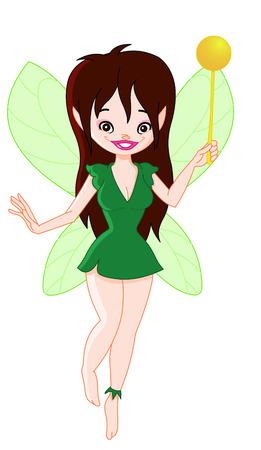 Cute forest fairy Vector