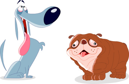 piebald: Two Silly dogs Illustration