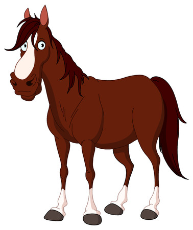 Handsome horse Vector
