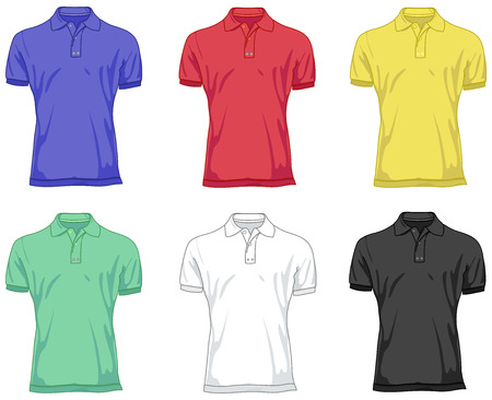sleeved: Polo shirts Illustration