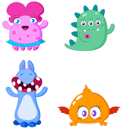Cute little monsters Vector