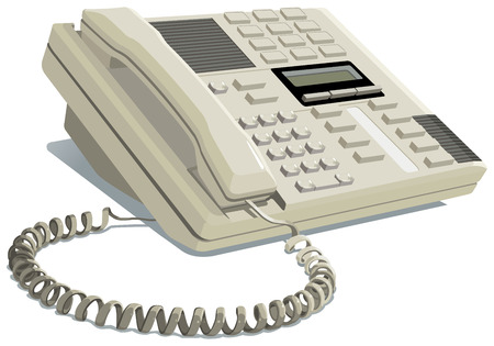 switchboard: Office phone Illustration