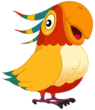 macaw: Smiley parrot Illustration