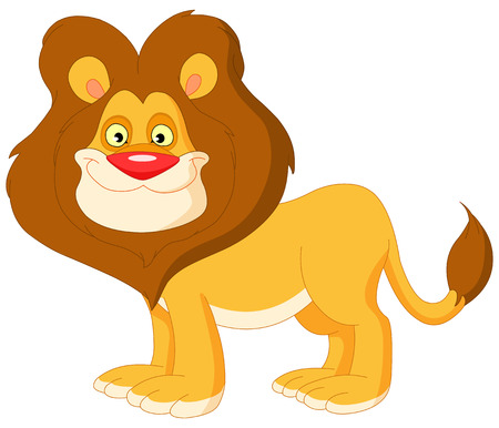 a smiling cute lion  Stock Vector - 6653003