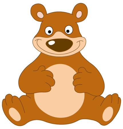 Smiley bear sitting Vector