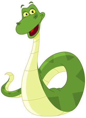 Happy snake Vector