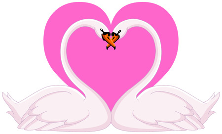 Two loving swans Vector
