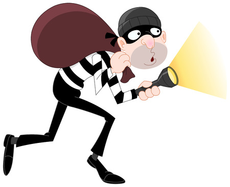 burglars: Sneaking thief Illustration