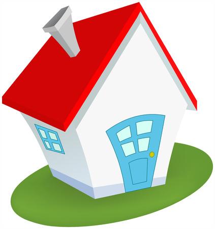 house agent: Little house Illustration