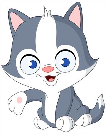 kotek: Cute kitten prezentacji Ilustracja