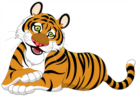 Beautiful lying tiger Stock Vector - 6867985