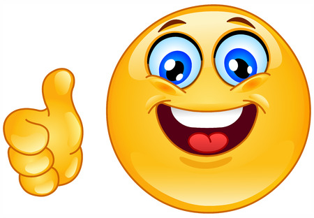 cara sonriente: Pulgar arriba icono gestual