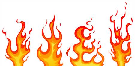 rods: Set of flames Illustration