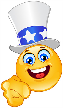 Uncle Sam emoticon I want you Vector