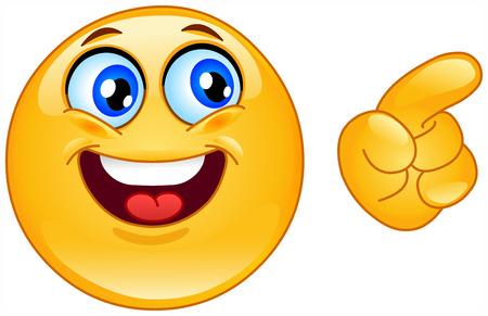 dedo se�alando: Emoticon apuntando