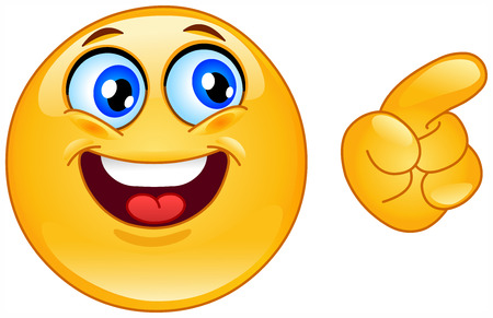 Emoticon pointing Stock Vector - 6979043