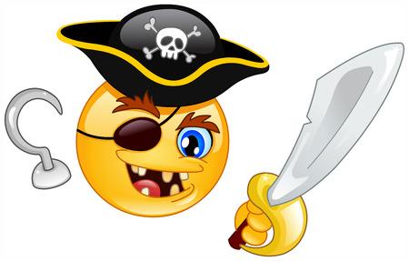 Pirate emoticon Vector
