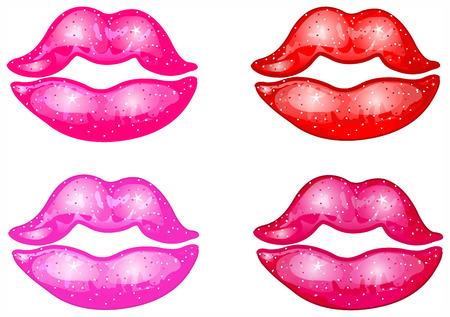 Vector lipstick kisses Vector